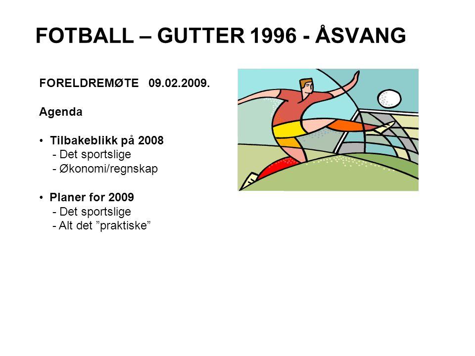 FOTBALL – GUTTER 1996 - ÅSVANG