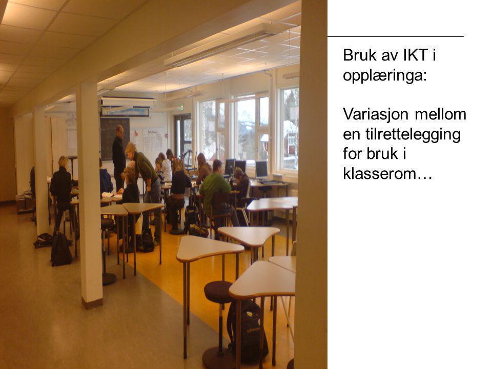 Bruk av IKT i opplæringa: Variasjon mellom en tilrettelegging for bruk i klasserom…
