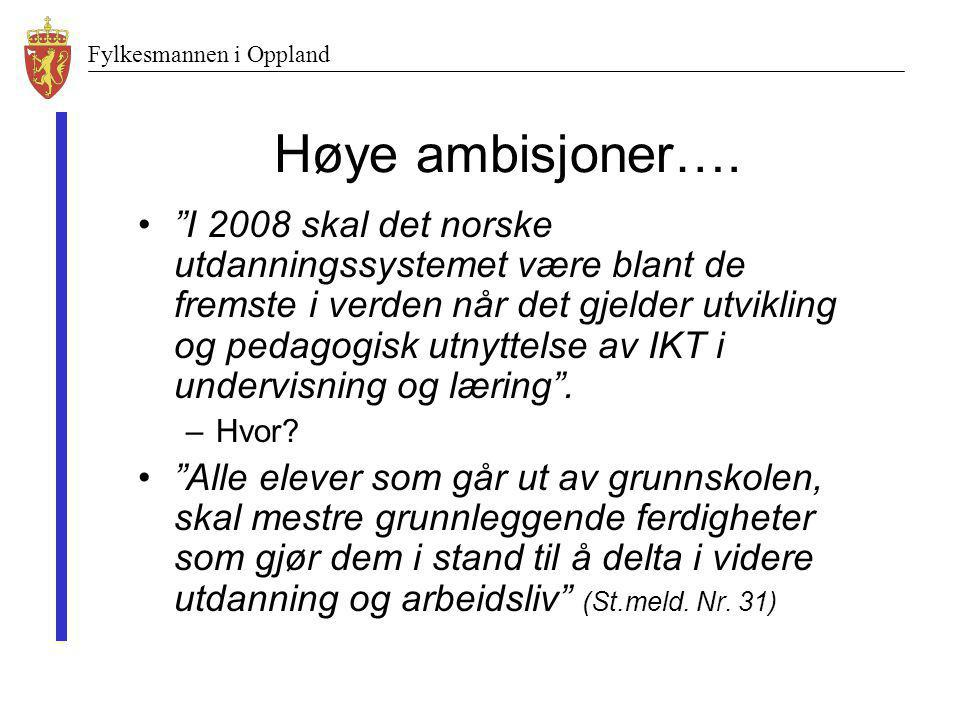 Høye ambisjoner….