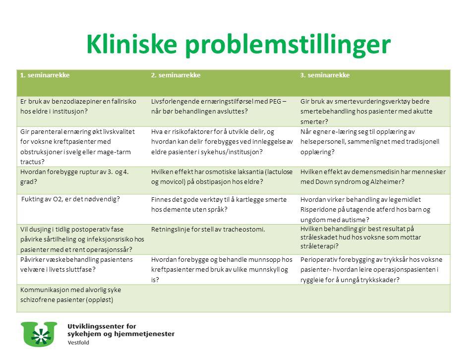 Kliniske problemstillinger