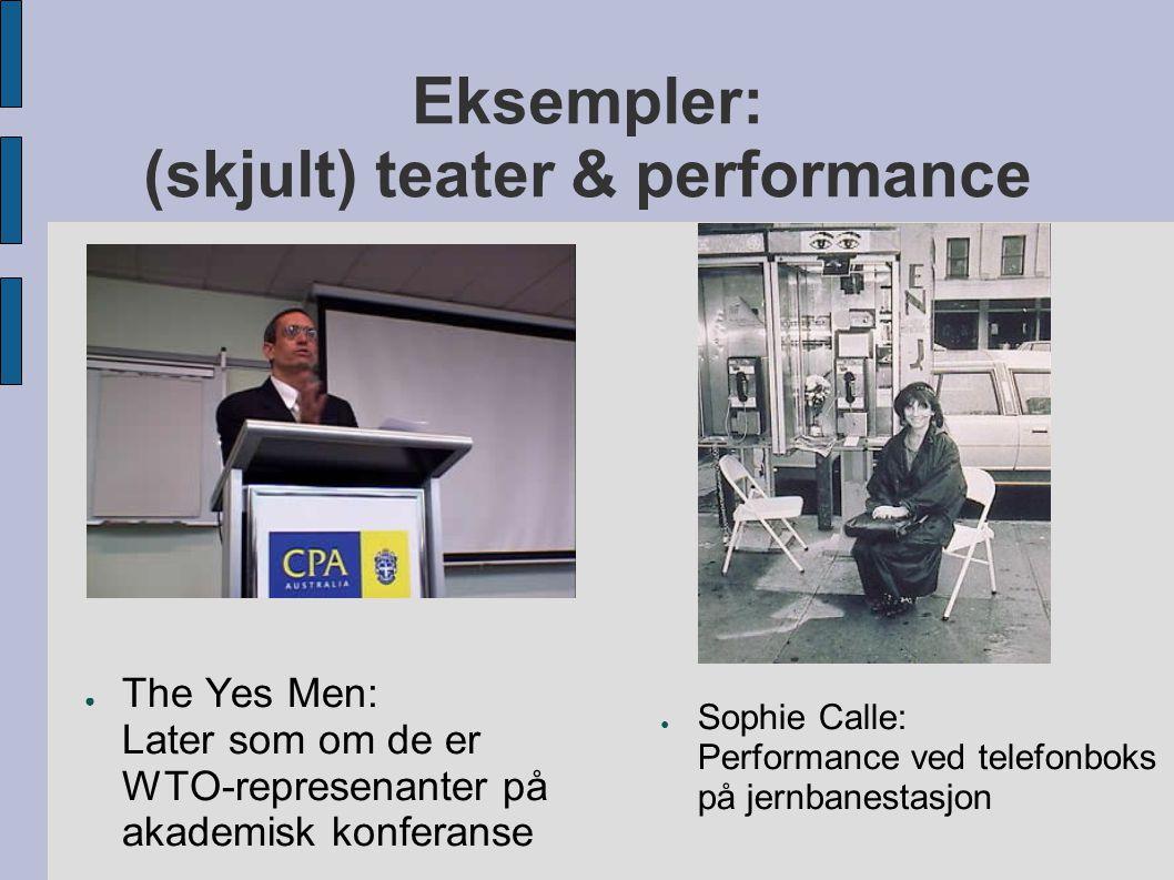 Eksempler: (skjult) teater & performance