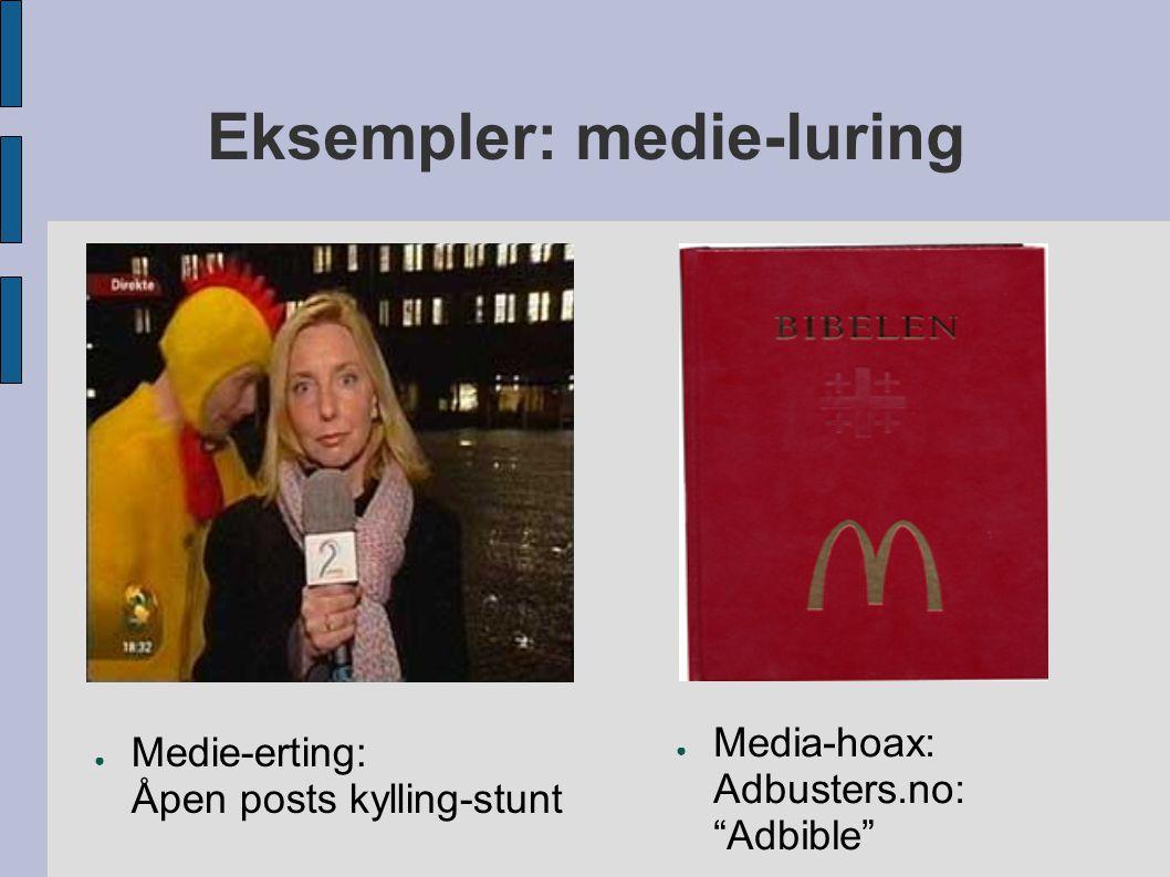 Eksempler: medie-luring