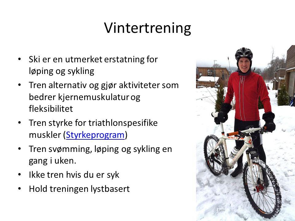 Vintertrening Ski er en utmerket erstatning for løping og sykling