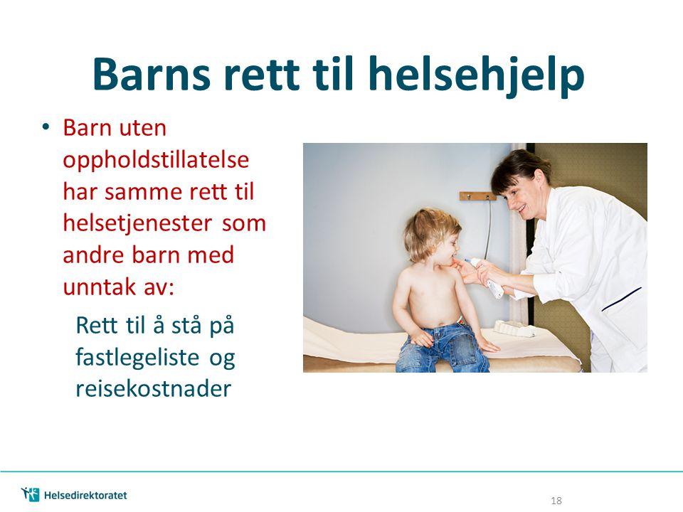 Barns rett til helsehjelp