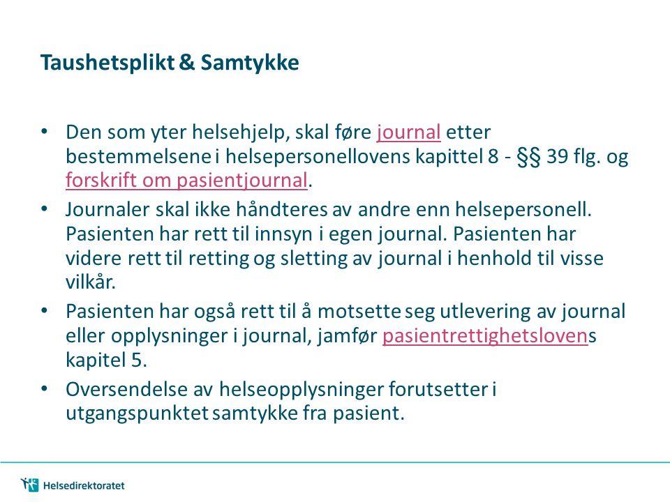 Taushetsplikt & Samtykke