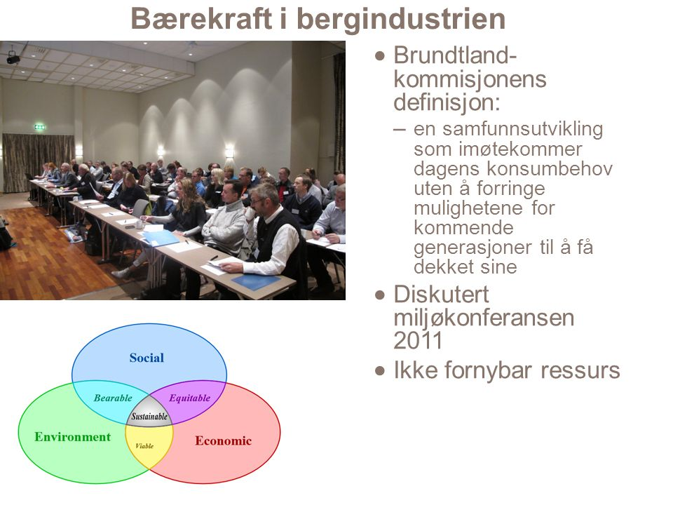 Bærekraft i bergindustrien