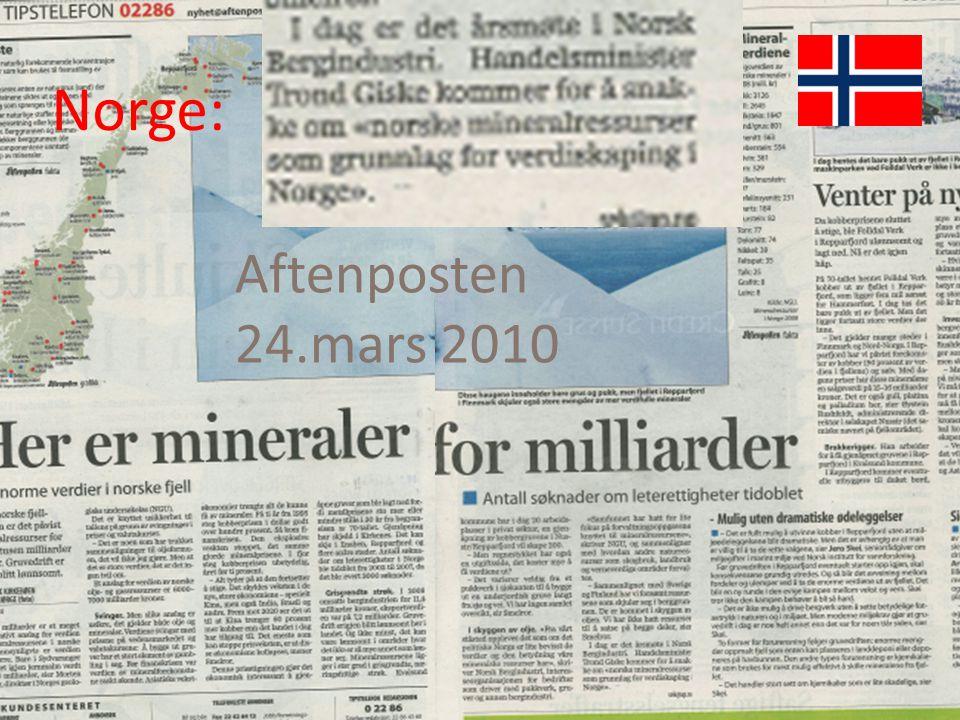 Norge: Aftenposten 24.mars 2010 Det raske svaret på spørsmålet