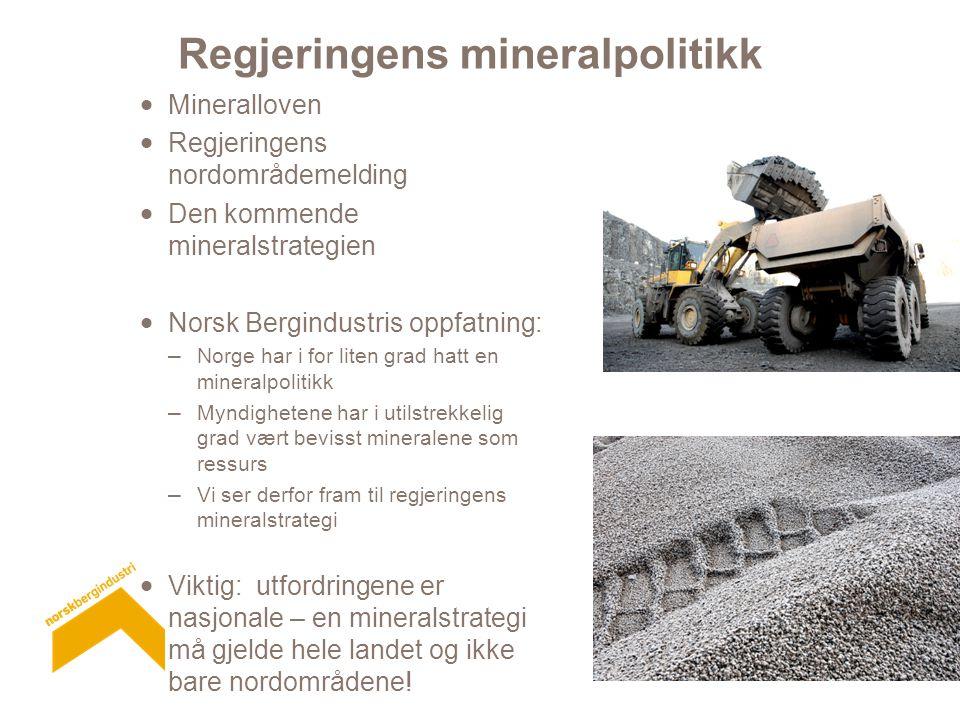Regjeringens mineralpolitikk