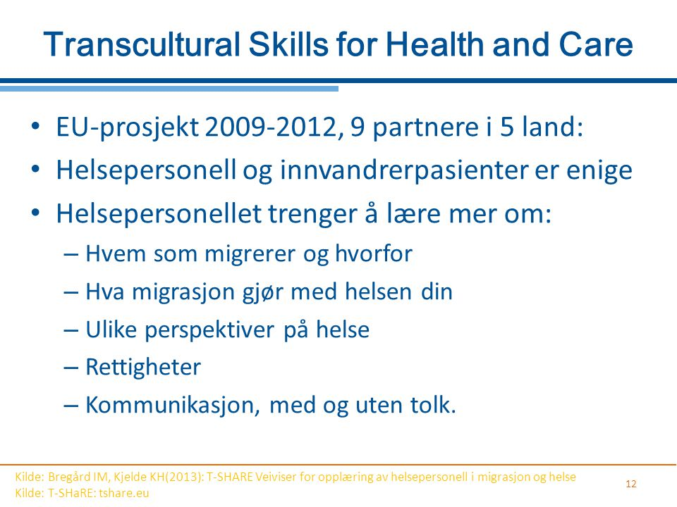 Transcultural Skills for Health and Care