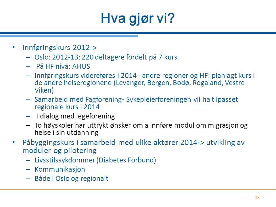 Hva gjør vi Innføringskurs 2012->
