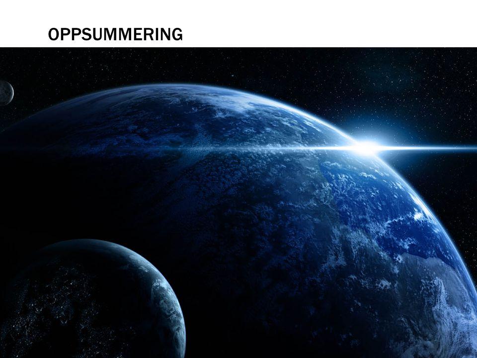 Oppsummering Vi har nå sett på det grunnleggende i astrofysikken, vi vet at alle gjenstander sender ut elektromagnetisk stråling.