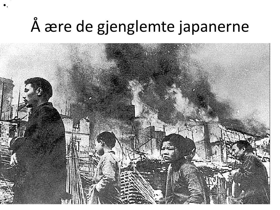 Å ære de gjenglemte japanerne