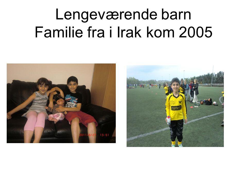 Lengeværende barn Familie fra i Irak kom 2005