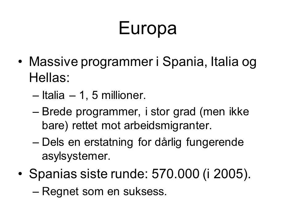 Europa Massive programmer i Spania, Italia og Hellas: