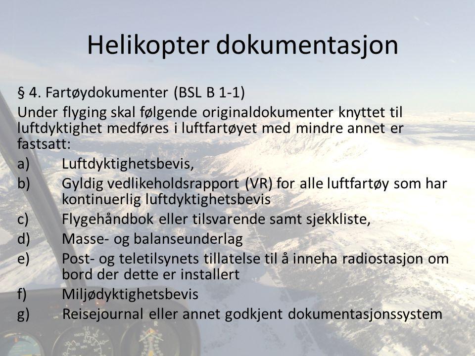 Helikopter dokumentasjon
