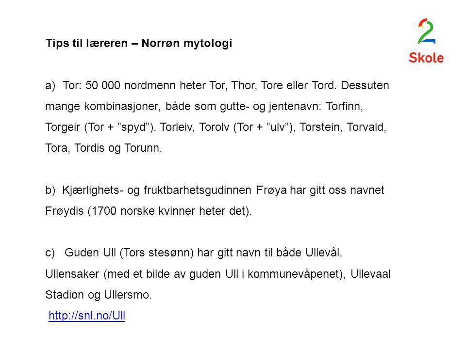 Tips til læreren – Norrøn mytologi