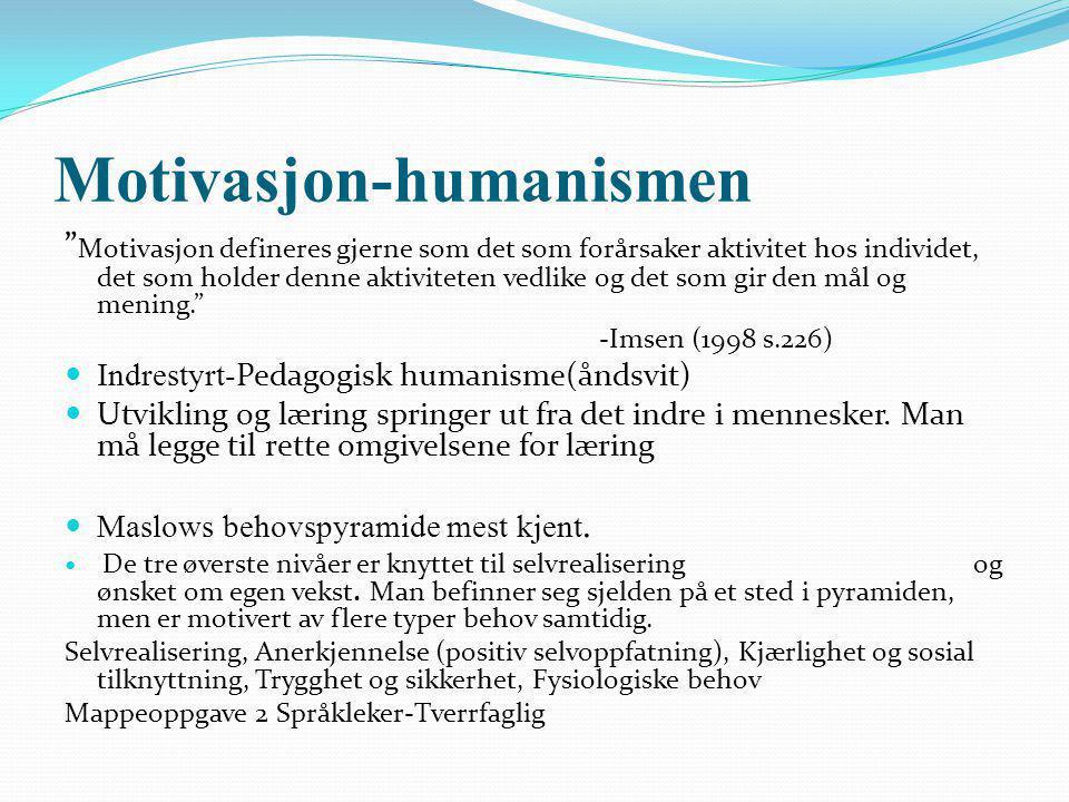Motivasjon-humanismen
