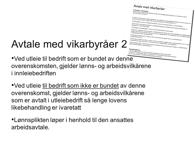 Avtale med vikarbyråer 2