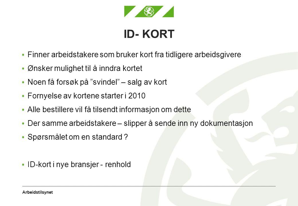 ID- KORT Finner arbeidstakere som bruker kort fra tidligere arbeidsgivere. Ønsker mulighet til å inndra kortet.