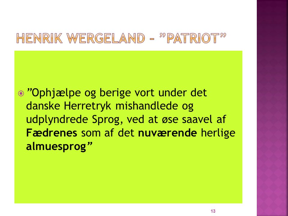 Henrik Wergeland – patriot