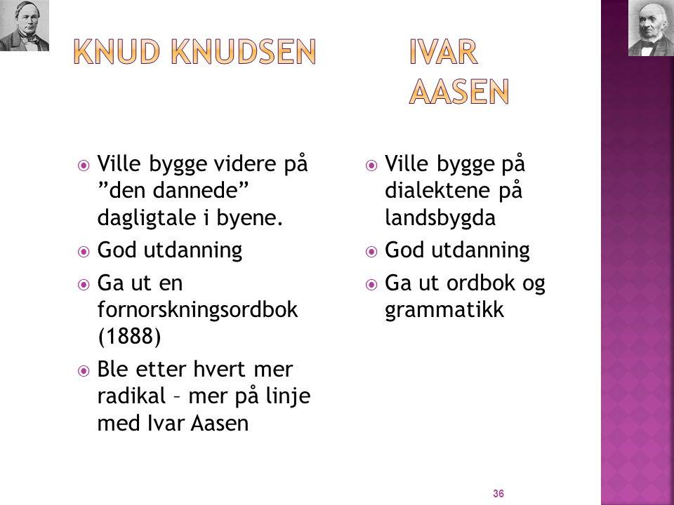 Knud Knudsen Ivar Aasen