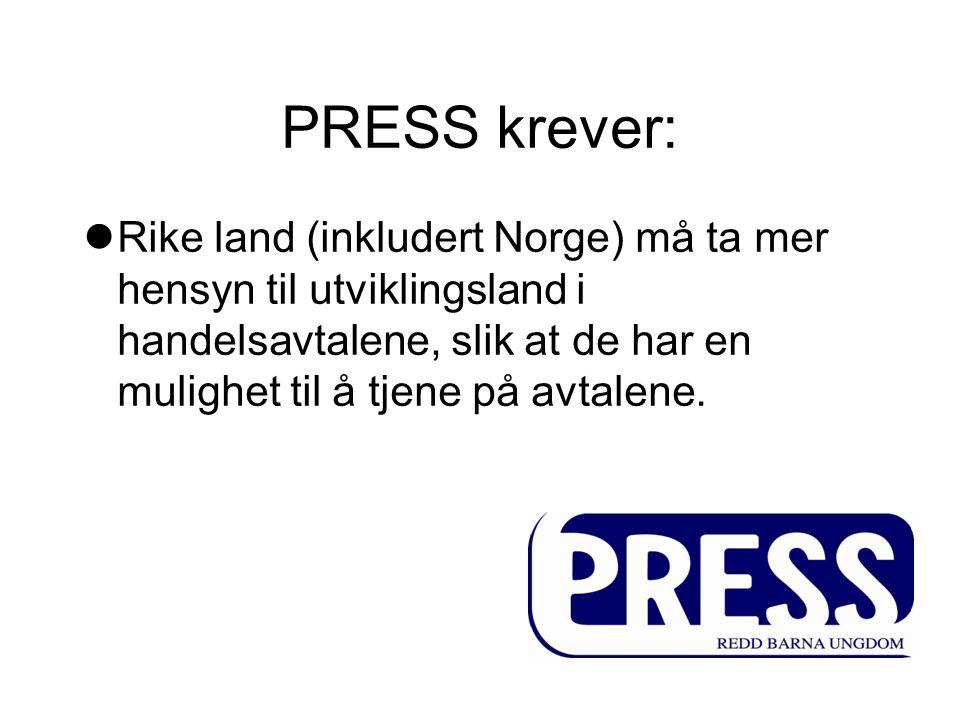 PRESS krever: