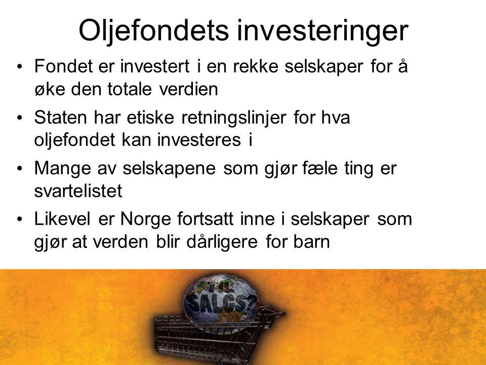 Oljefondets investeringer