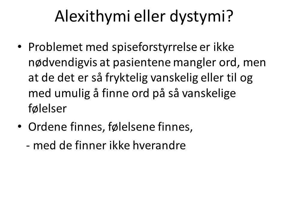 Alexithymi eller dystymi