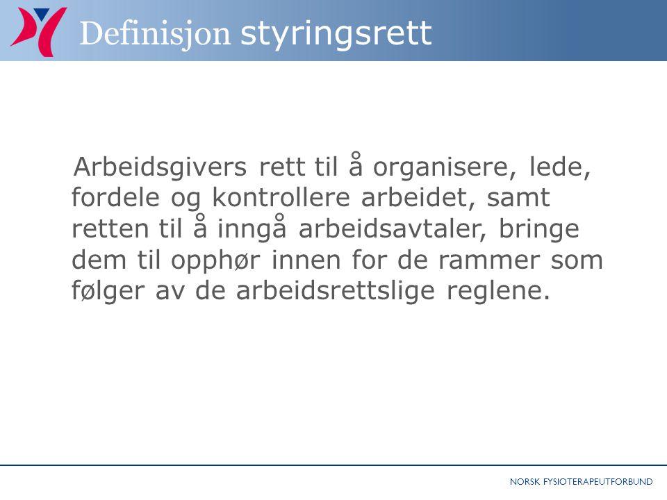 Definisjon styringsrett