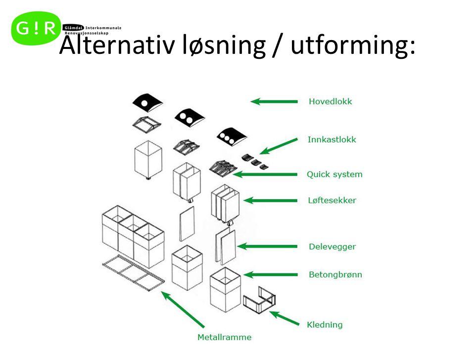 Alternativ løsning / utforming: