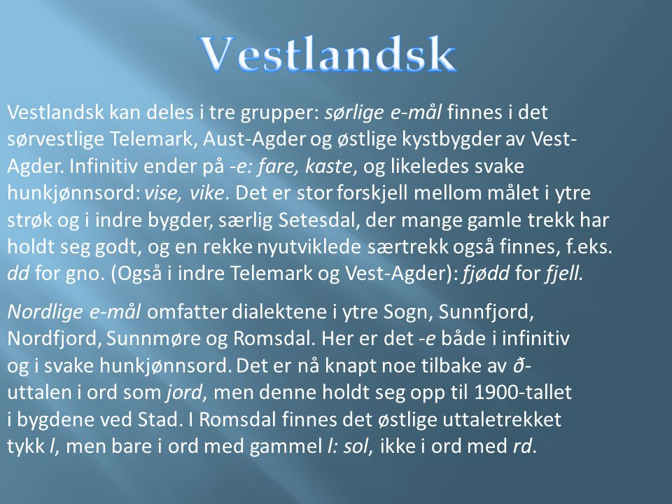Vestlandsk