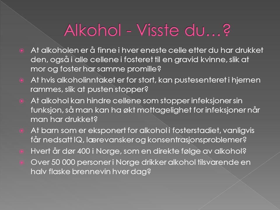 Alkohol - Visste du…