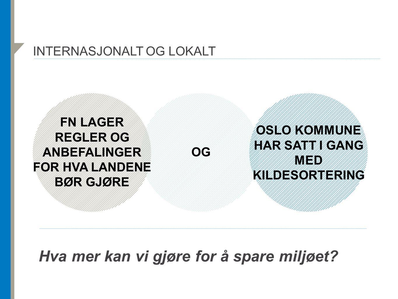 Internasjonalt og lokalt