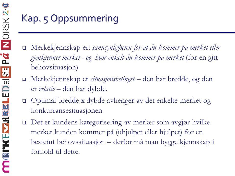 Kap. 5 Oppsummering