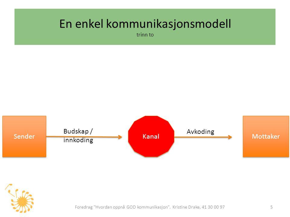 En enkel kommunikasjonsmodell trinn to