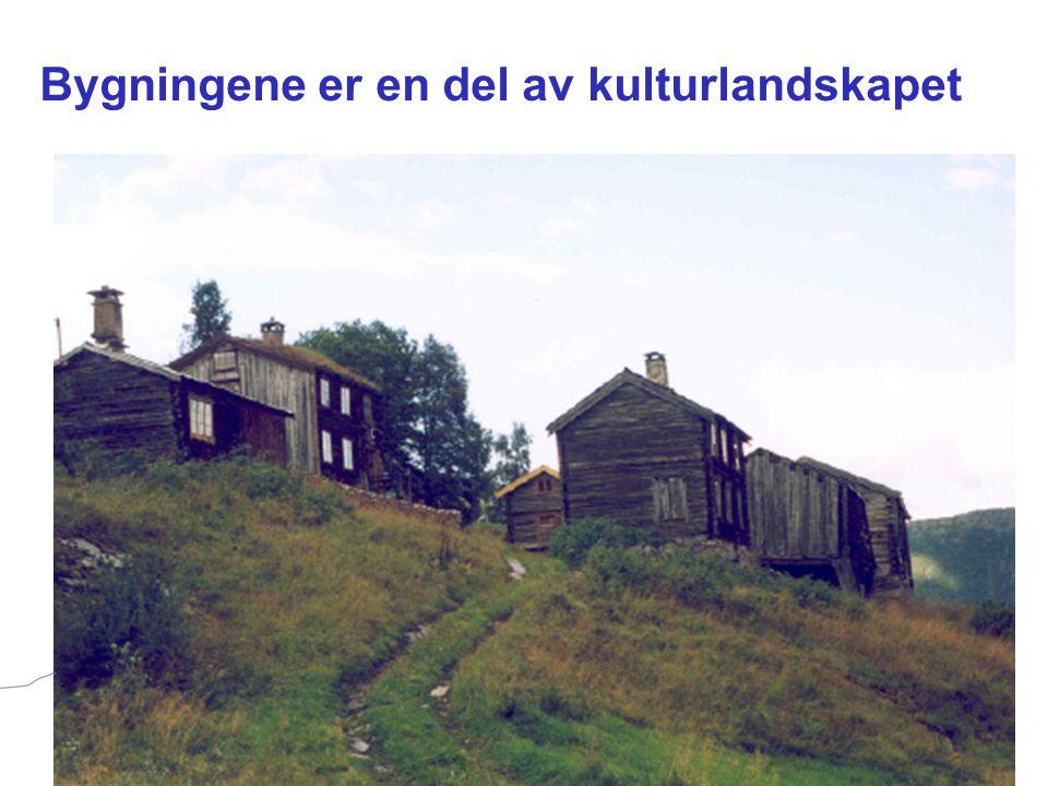 Bygningene er en del av kulturlandskapet