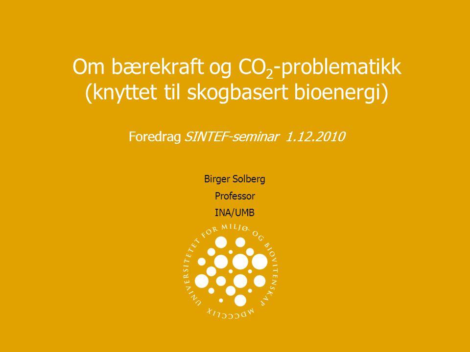Birger Solberg Professor INA/UMB