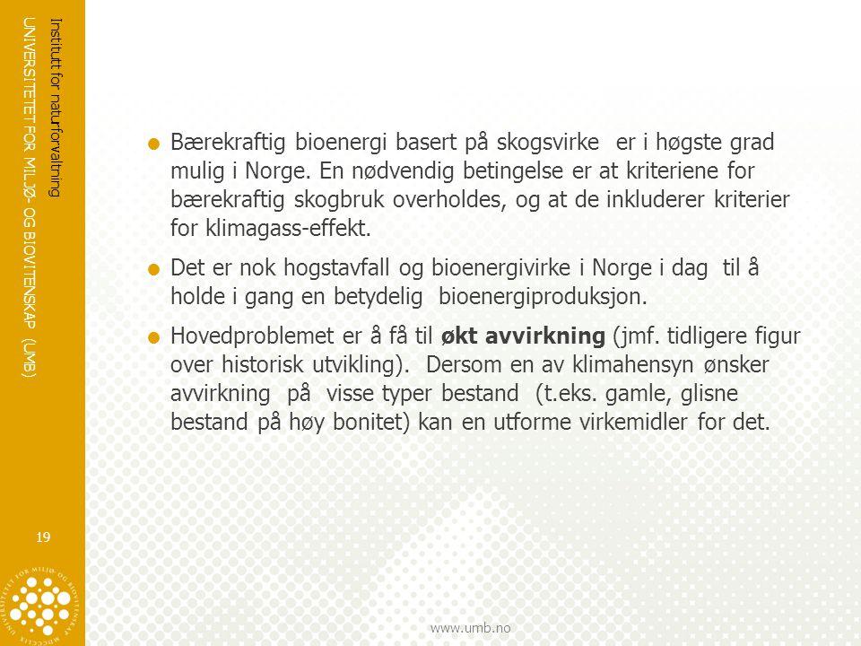 Bærekraftig bioenergi basert på skogsvirke er i høgste grad mulig i Norge. En nødvendig betingelse er at kriteriene for bærekraftig skogbruk overholdes, og at de inkluderer kriterier for klimagass-effekt.