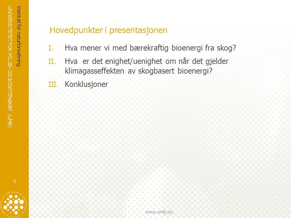 Hovedpunkter i presentasjonen