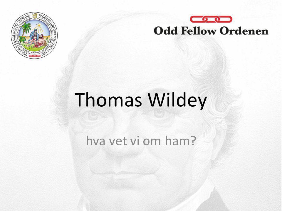Thomas Wildey hva vet vi om ham