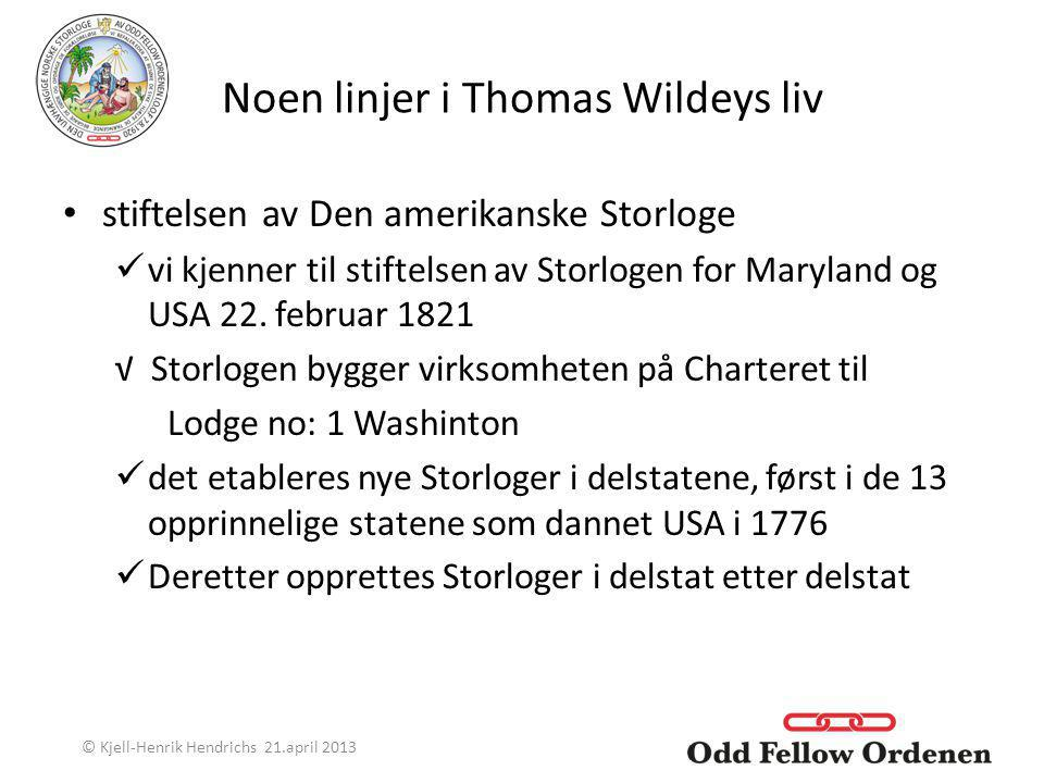 Noen linjer i Thomas Wildeys liv