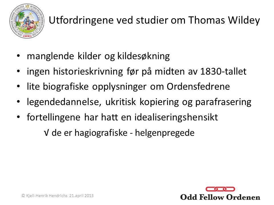 Utfordringene ved studier om Thomas Wildey