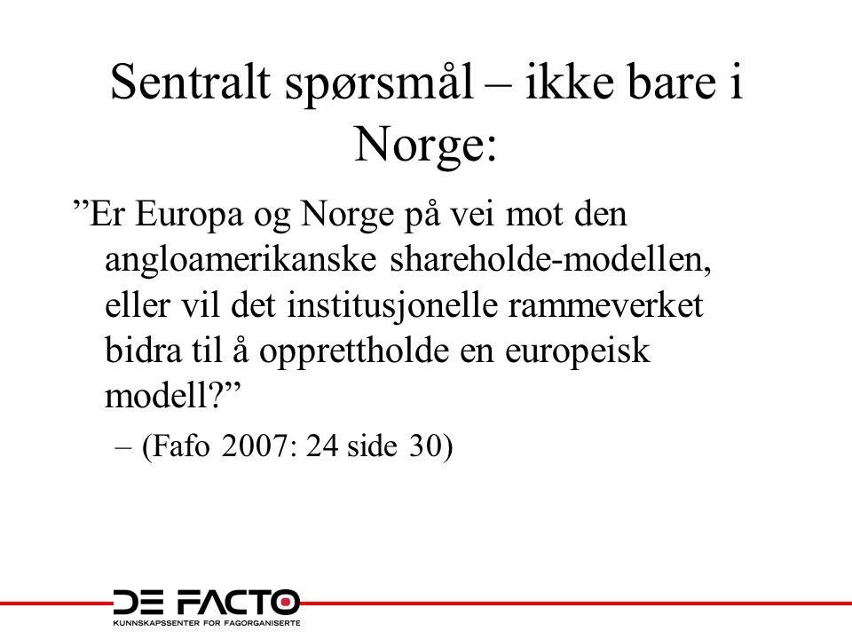 Sentralt spørsmål – ikke bare i Norge: