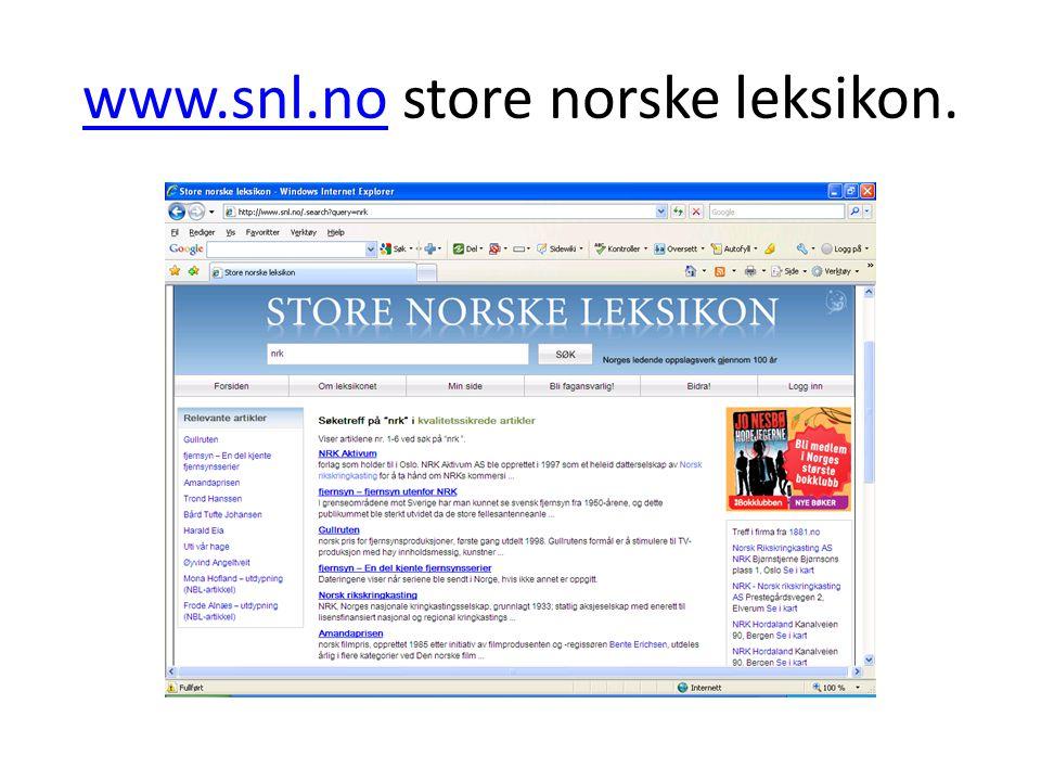 www.snl.no store norske leksikon.