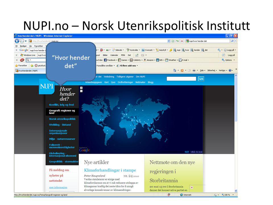 NUPI.no – Norsk Utenrikspolitisk Institutt