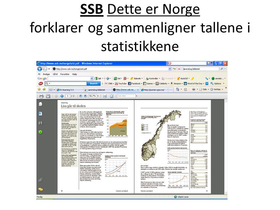 SSB Dette er Norge forklarer og sammenligner tallene i statistikkene