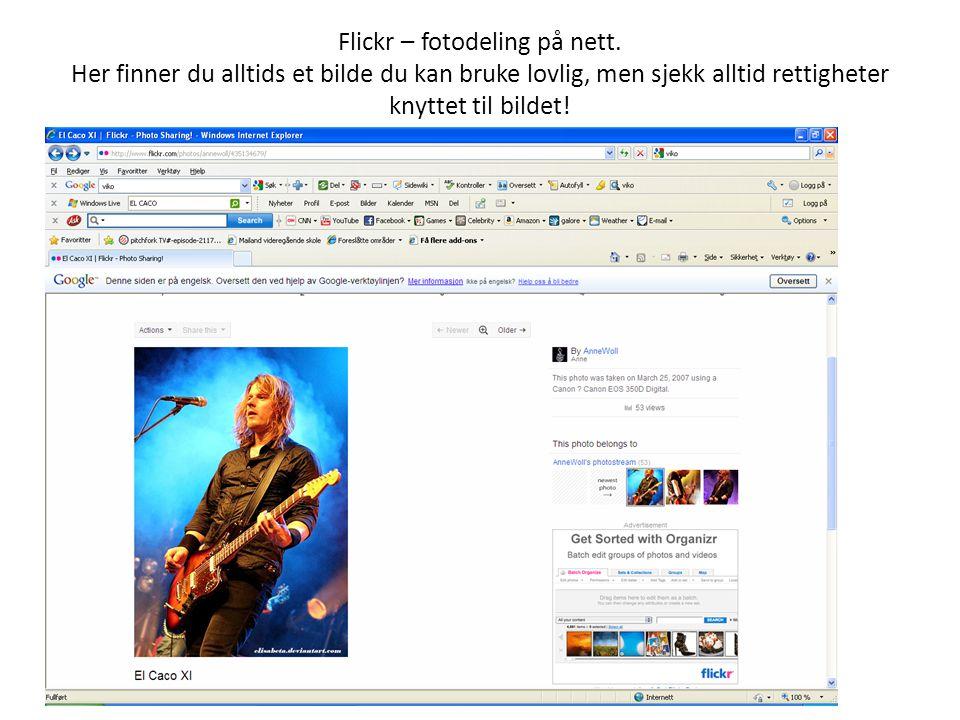 Flickr – fotodeling på nett