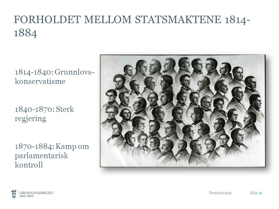 Forholdet mellom Statsmaktene 1814-1884