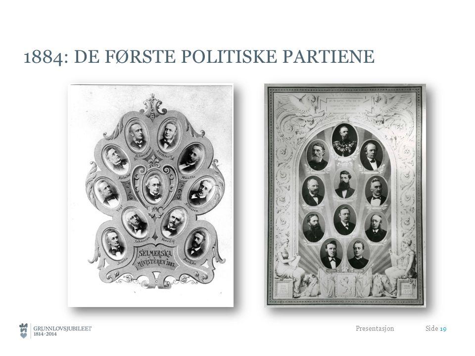 1884: de første politiske partiene