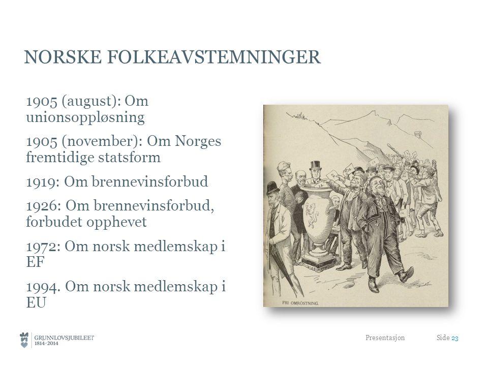 Norske folkeavstemninger